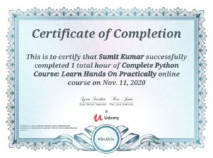 Complete Python Course: Learn Hands On Practically